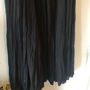Black Calf Length Maxi Skirt